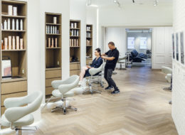 Kevin Mancuso no (lindo!) Nexxus New York Salon, em Tribeca